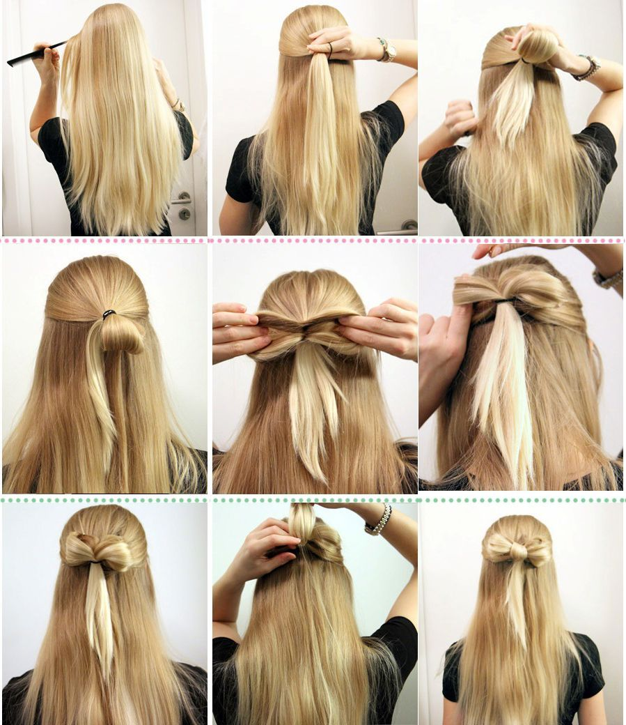 Easy Everyday Hairstyles Simple Hairstyle Ideas For Women And Man Hair Styles Medium Hair Styles Long Hair Styles