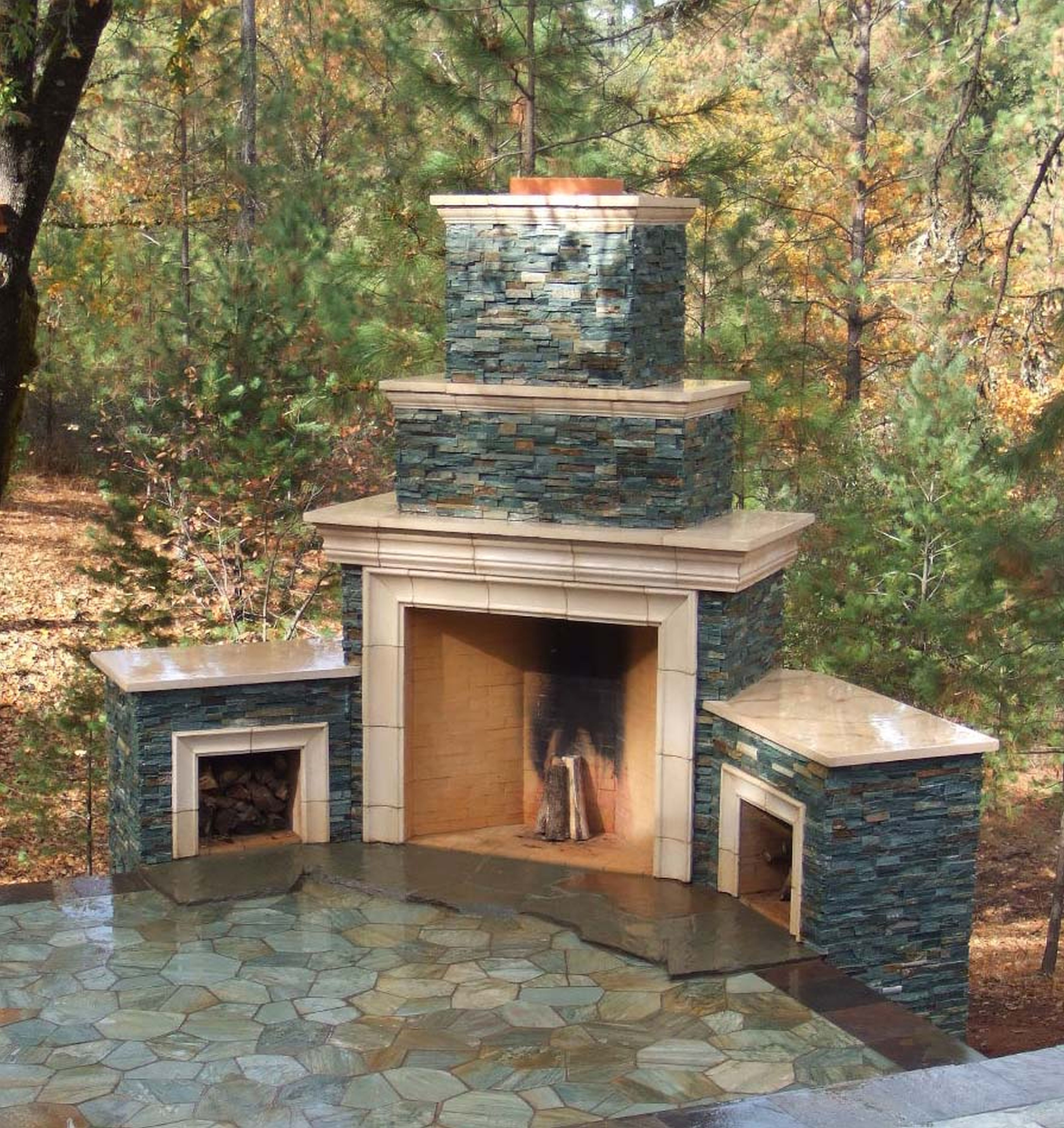 Glowing Outdoor Fireplace Ideas: Excellent Outdoor Fireplace Pictures Design Inspirations
