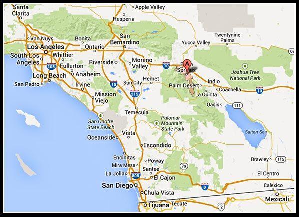 Google Maps Palm Springs California