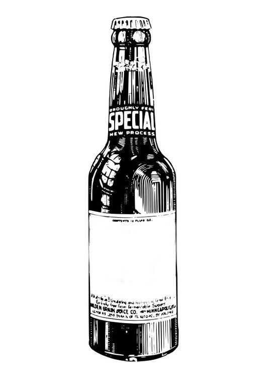 Dibujo Para Colorear Botella De Cerveza Img 27577 Dibujos De Botellas Botellas De Cerveza Tatuajes De Cerveza