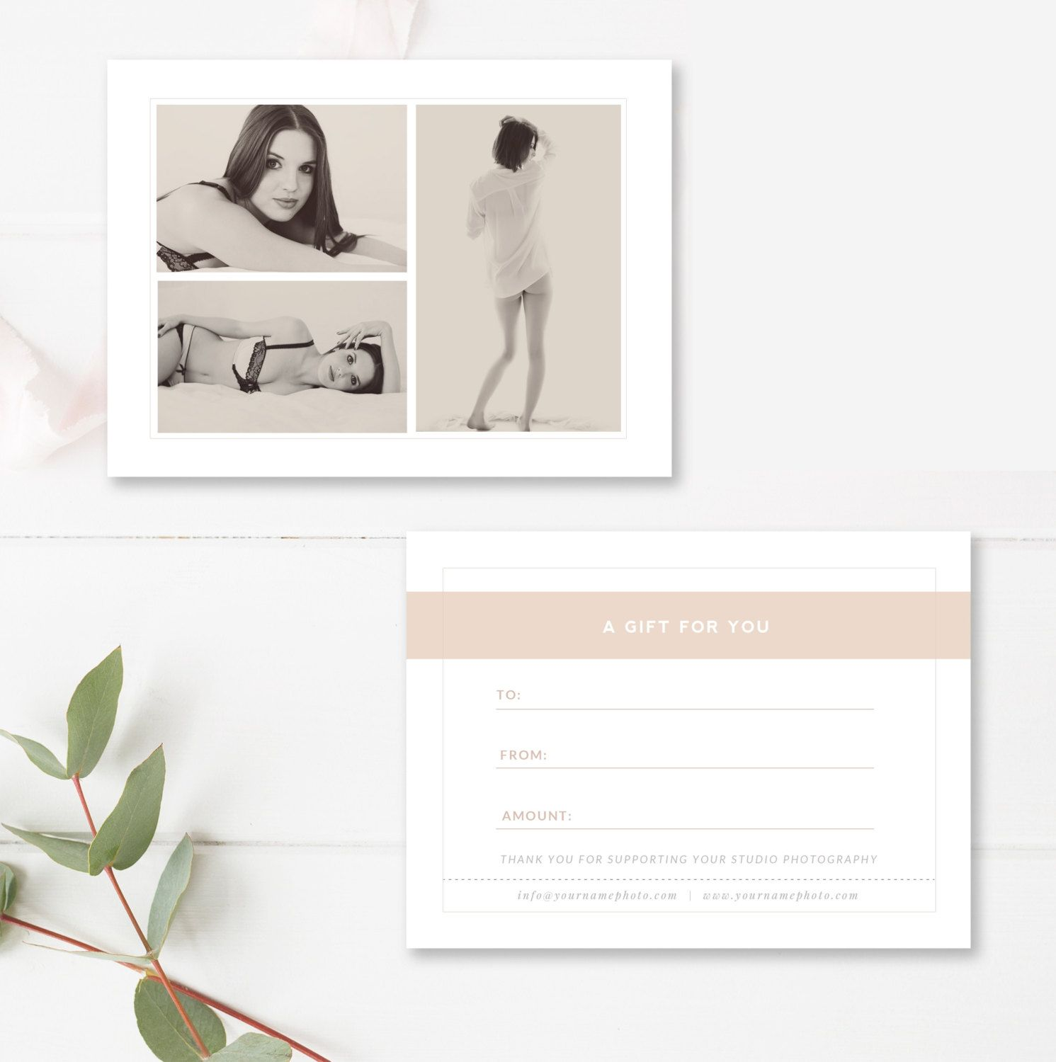 Photography Gift Certificate Template - Gift Card Templates - Photo ...