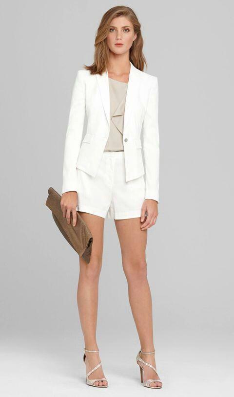 White ejecutive | Women's Shorts Fashion | Pinterest | Linens ...