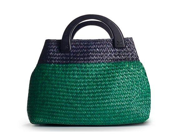 Kelly Katie Two Tone Straw Tote Handbags Dsw