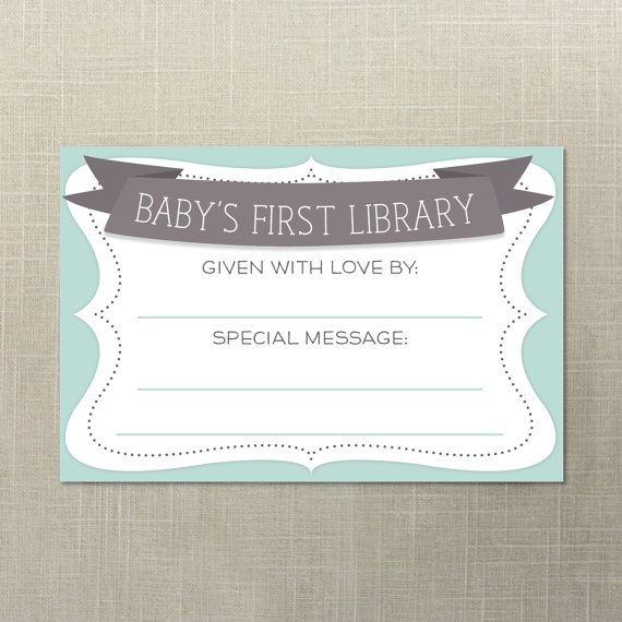 Baby Shower Book Plate Book Plates Printable Book