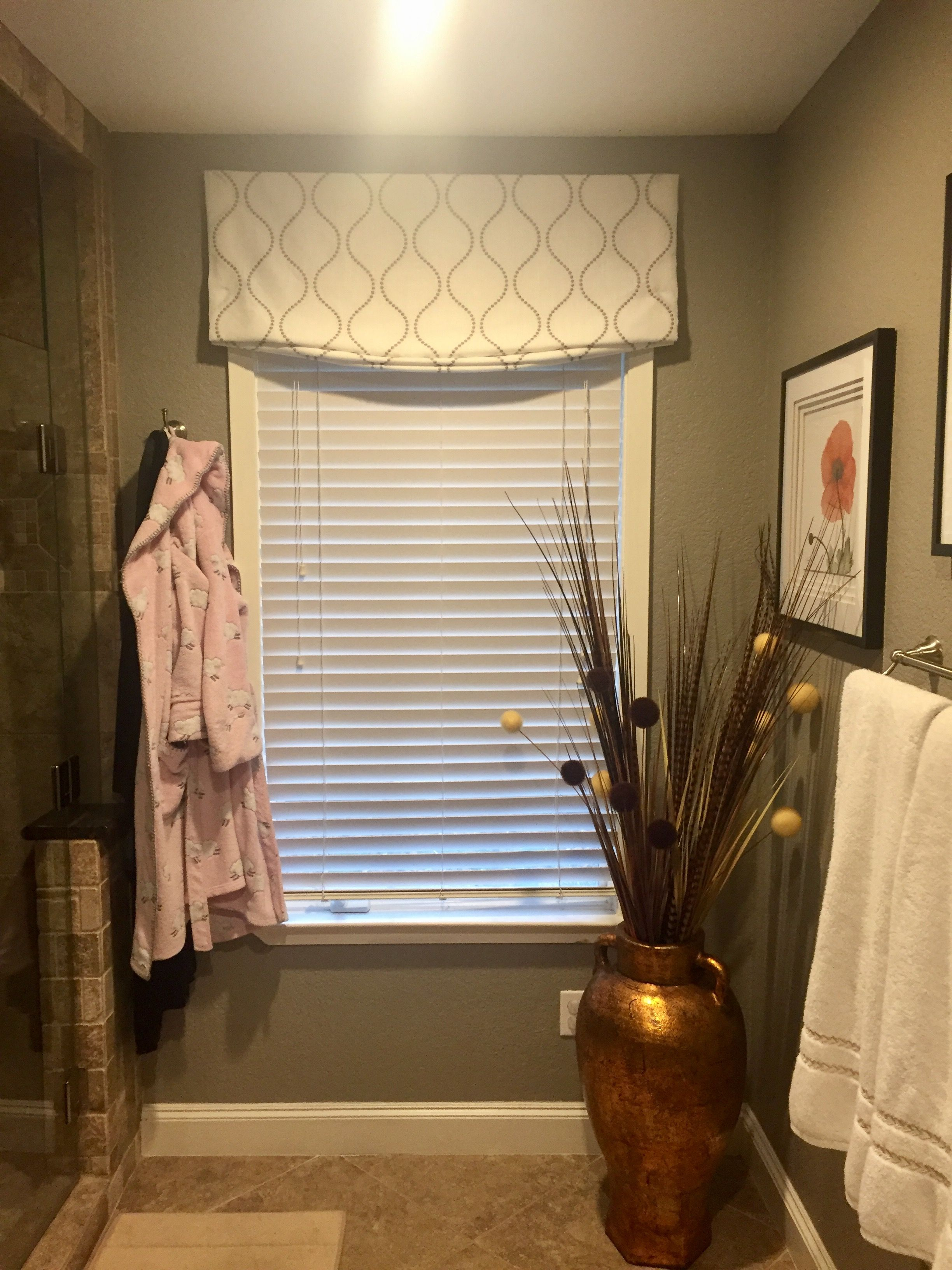 Faux Roman Shade Valance Furnished And Installed By Kites