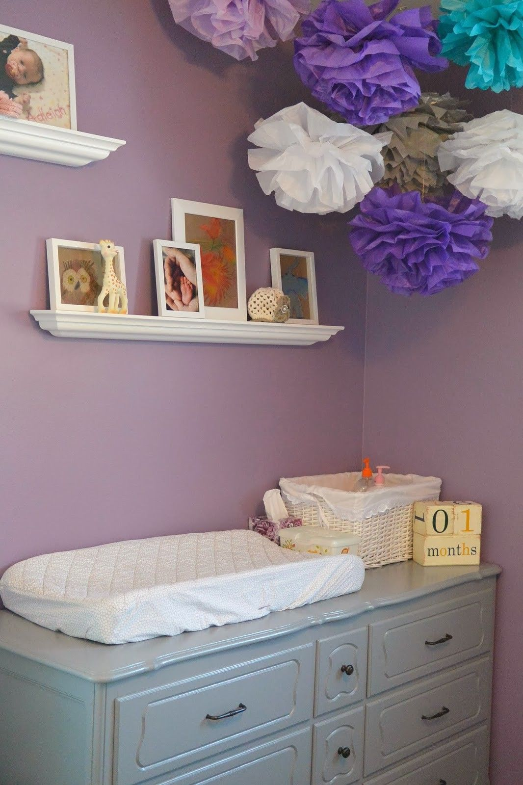 Room Tour Adleigh S Nursery Purple Baby Roomspurple Themesnursery Ideas Greynursery