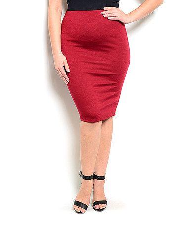 Look at this #zulilyfind! Burgundy Pencil Skirt - Plus #zulilyfinds
