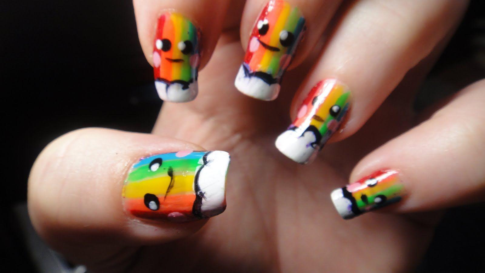 cute rainbow nails | Nails | Pinterest | Amazing nails, Nail stuff ...