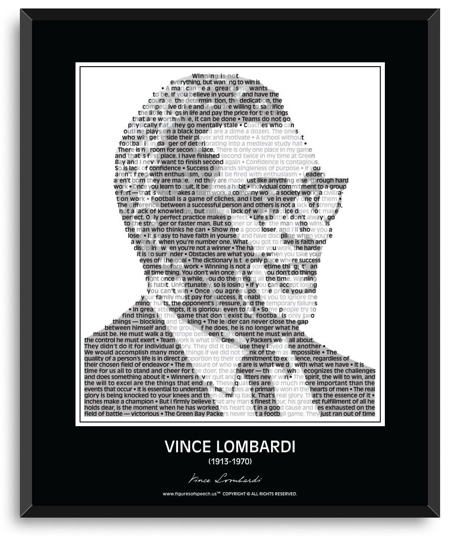 Vince Lombardi Wall Poster