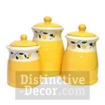 Lemon Theme Kitchen | Lemon Kitchen Decor | Think I Want These For The  Kitchen