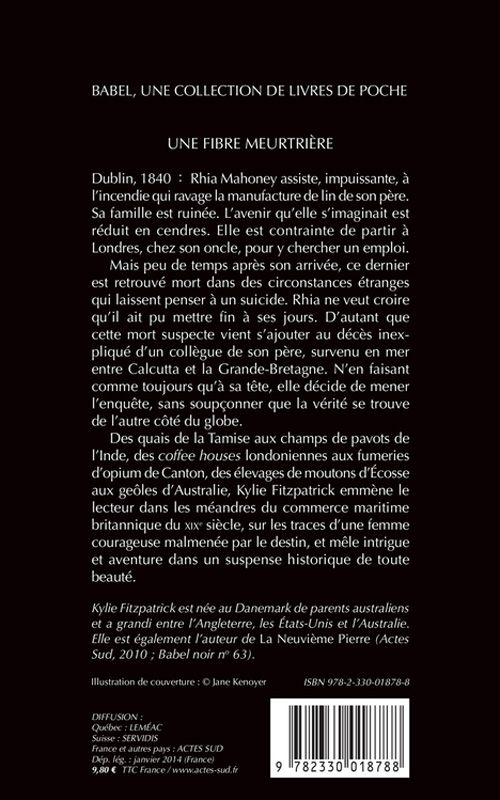 Babel Noir - 2014-01 - Kylie Fitzpatrick - Une Fibre Meurtrière - Verso