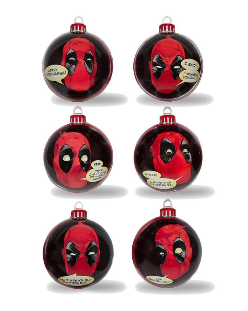 Official marvel deadpool christmas decorations give love on