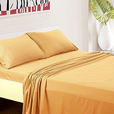 Balichun Luxurious Bed Sheet Set Highest Quality Hypoallergenic Microfiber  1800 Bedding Super Soft 4