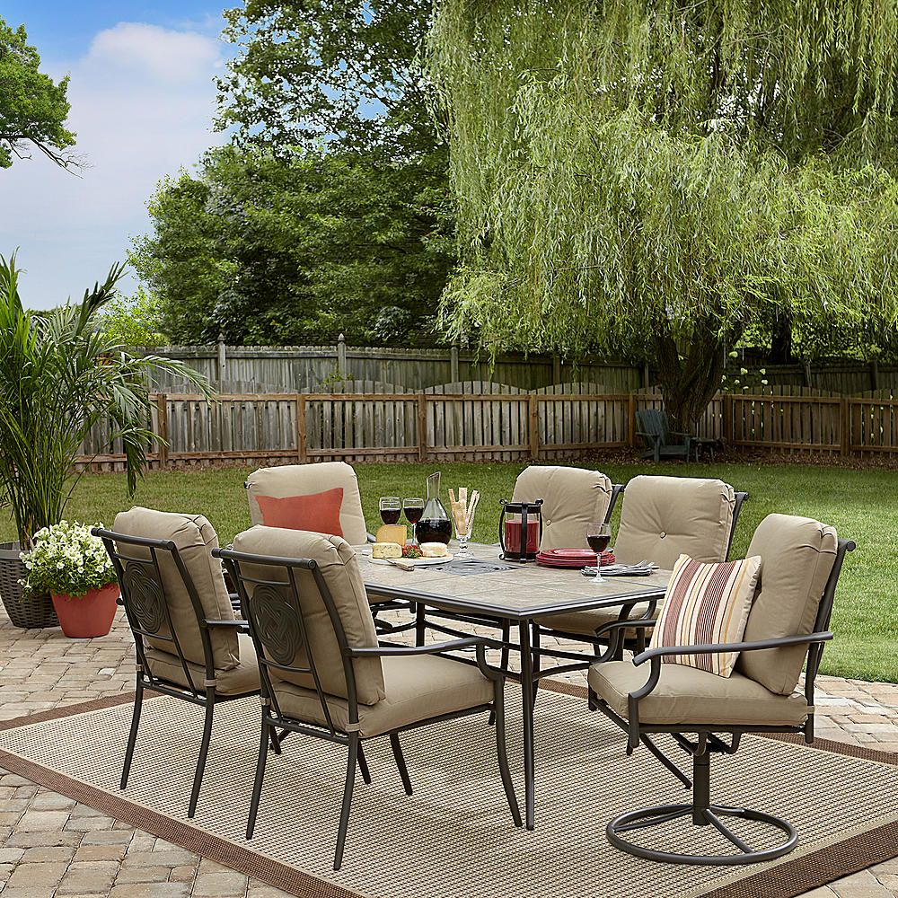 Garden Oasis Brookston 7 Piece Dining Set Stone Sears Big Lots Patio Furniture Outdoor Patio Decor Discount Outdoor Furniture