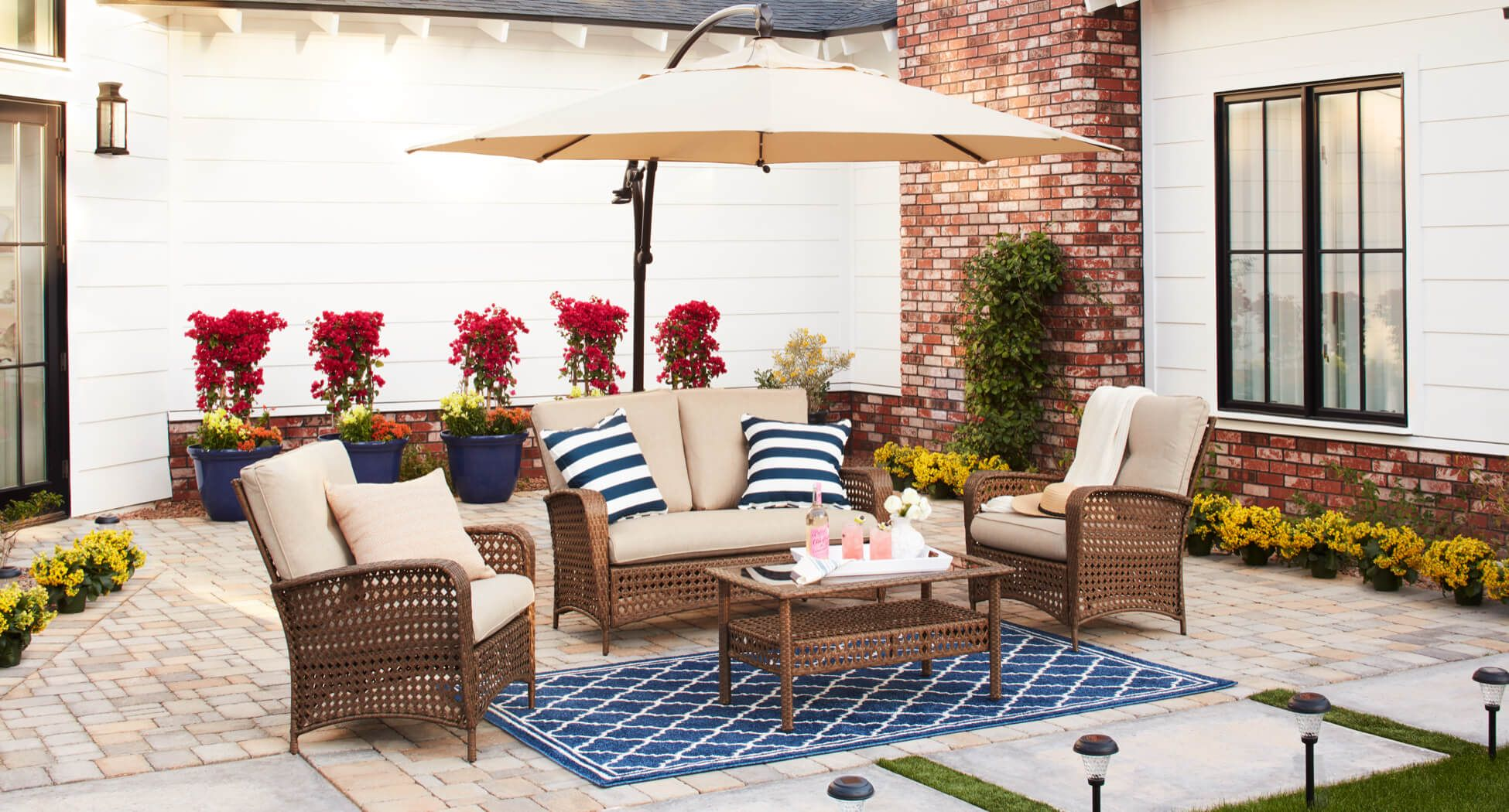 Patio furniture s color scheme and complement the rest of the patio decor