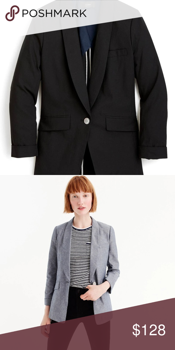030ce6e3 New J.Crew Womens Unstructured Blazer-Cotton/Linen Based off of one ...
