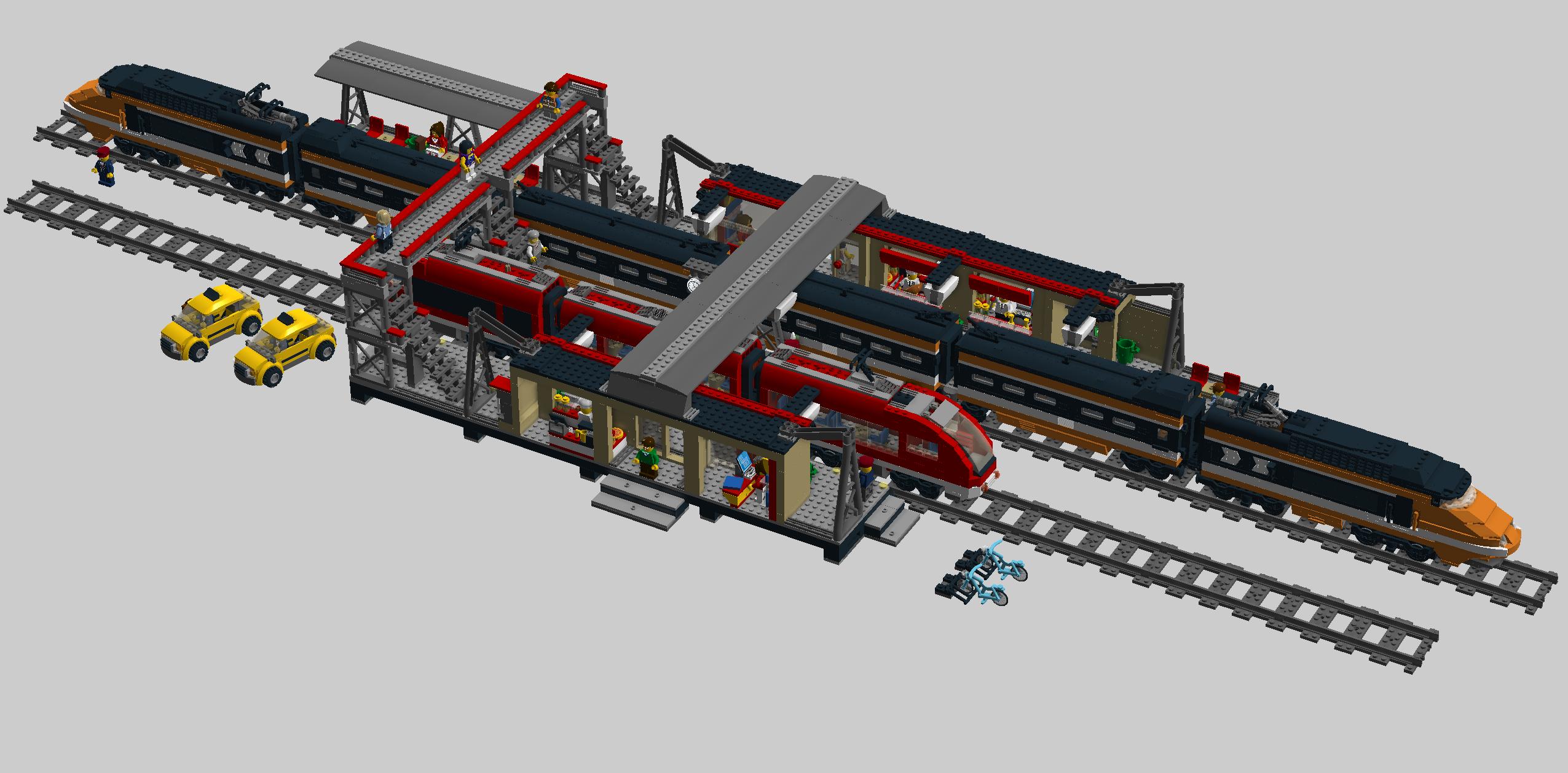 how to build lego train tracks