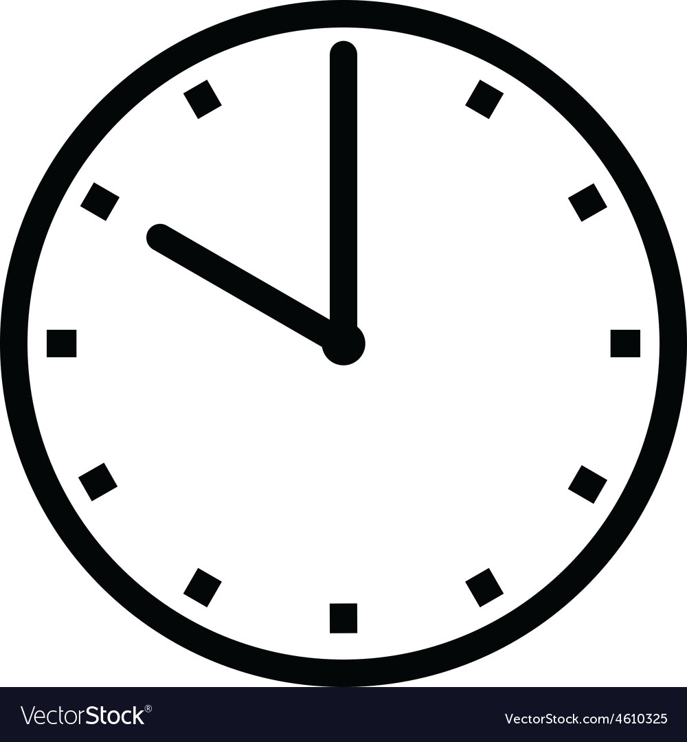 Clock 10 Vector Image On Vectorstock In 2020 Clock Vector Images 10 Things