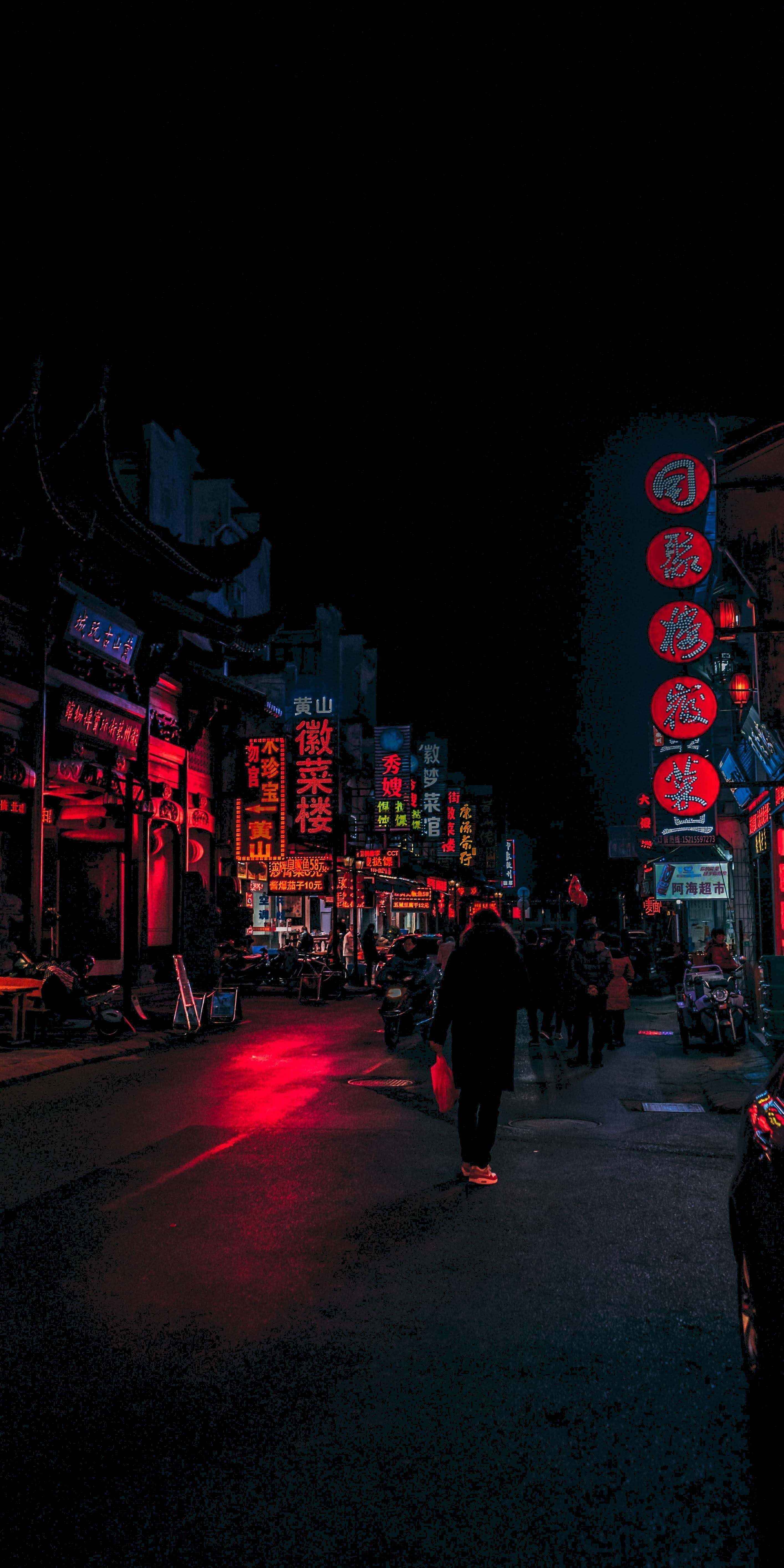 Cyberpunk Amoled Dark Vertical 5k Wallpaper Hdwallpaper Desktop Landscape Wallpaper City Wallpaper City Aesthetic
