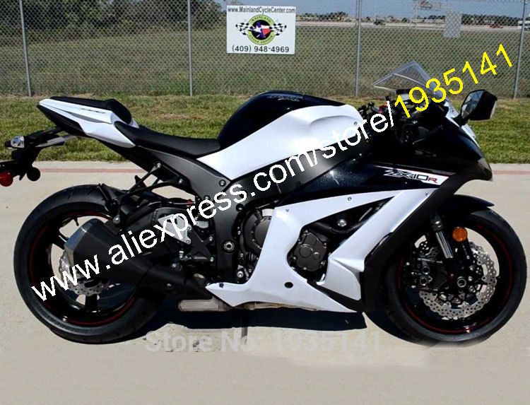 Hot Sales For Kawasaki Ninja Zx10r Parts 11 15 Zx 10r Zx 10r 2011 2015 White Black Motorcycle Fairing Kit Injection Molding Kawasaki Zx10r Kawasaki Cool Bikes