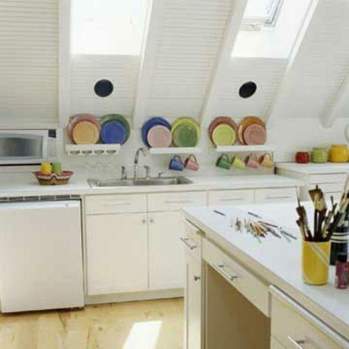 Küchengestaltung im Landhausstil Zukünftige Projekte Pinterest - dachgeschoss k chen bilder