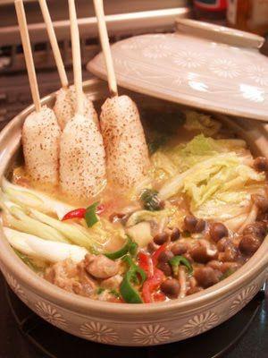 ochikeron - Create Eat Happy :): Thai Green Curry Jasmine Kiritanpo Nabe