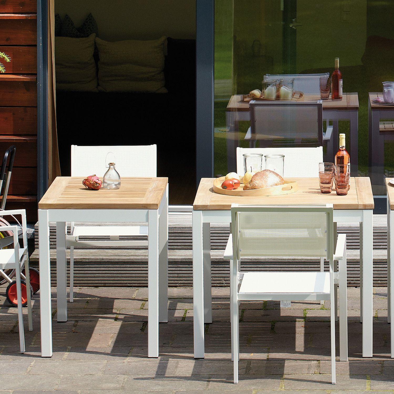Quadrat Hpl Tisch Gestell Weiss Jan Kurtz In 2020 Gartentisch