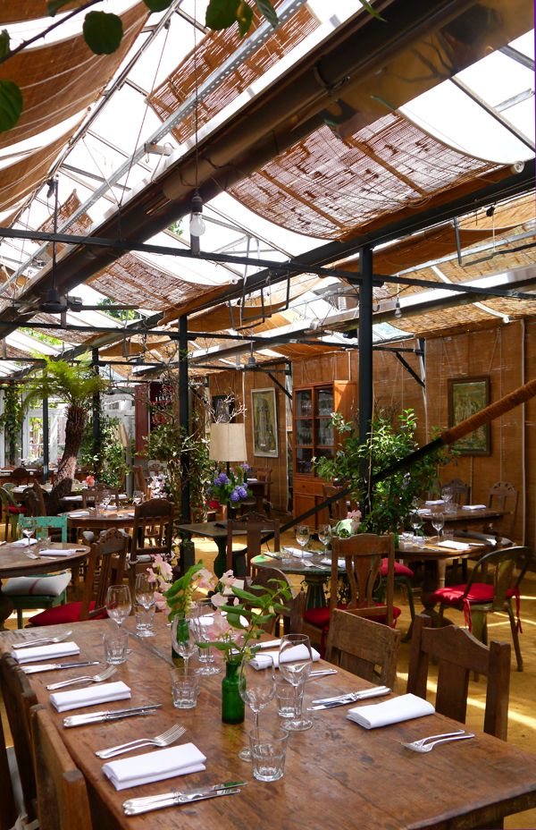 Petersham Nurseries Richmond, London. Garden cafe