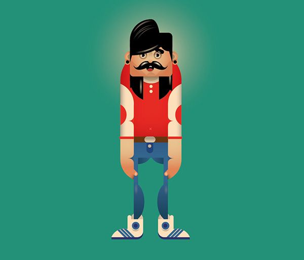 3 Characters on Behance