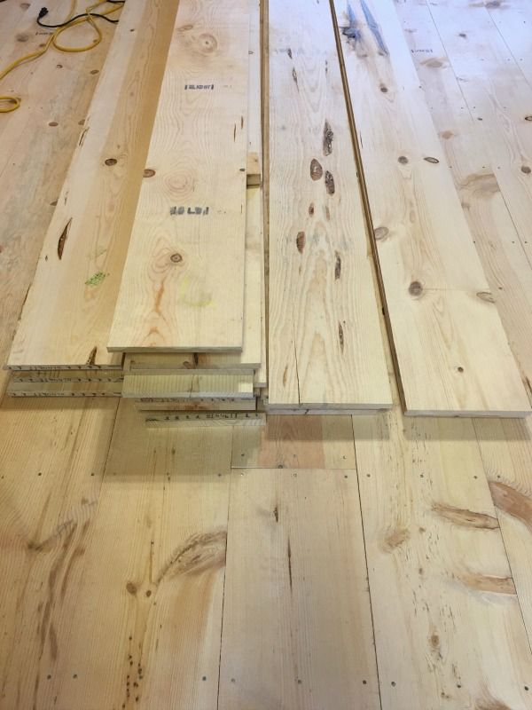 Diy wide plank pine floors part 1 installation do it yourself diy wide plank pine floors hood creek log cabin solutioingenieria Image collections
