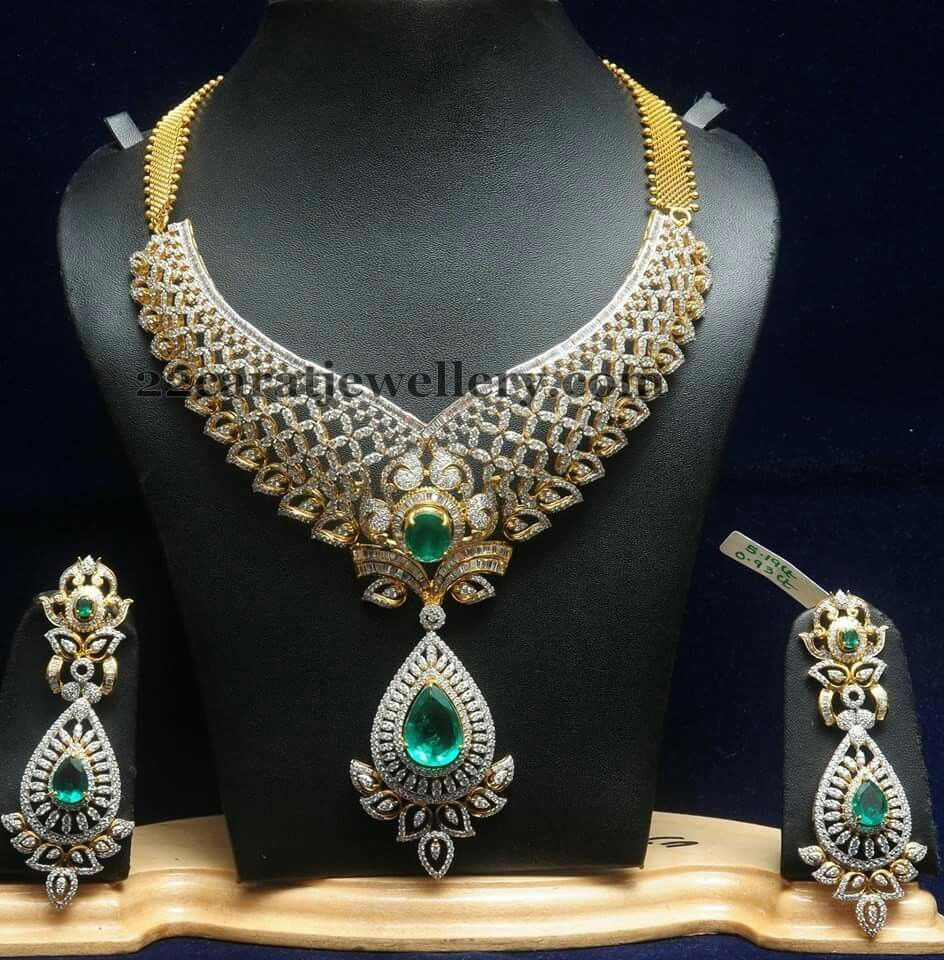 jewellery and necklace haram designs indian set diamond