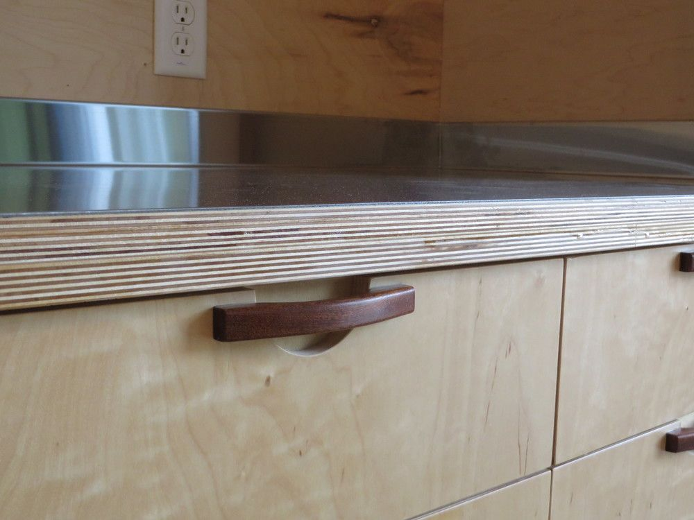 Plywood And Stainless Countertop Plywood Kitchen Replacing