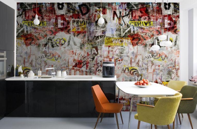 Newspaper Cutting Graffiti Wallpaper Wall Mural Muralswallpaper Co