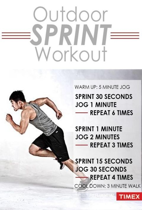 Running sprints workout