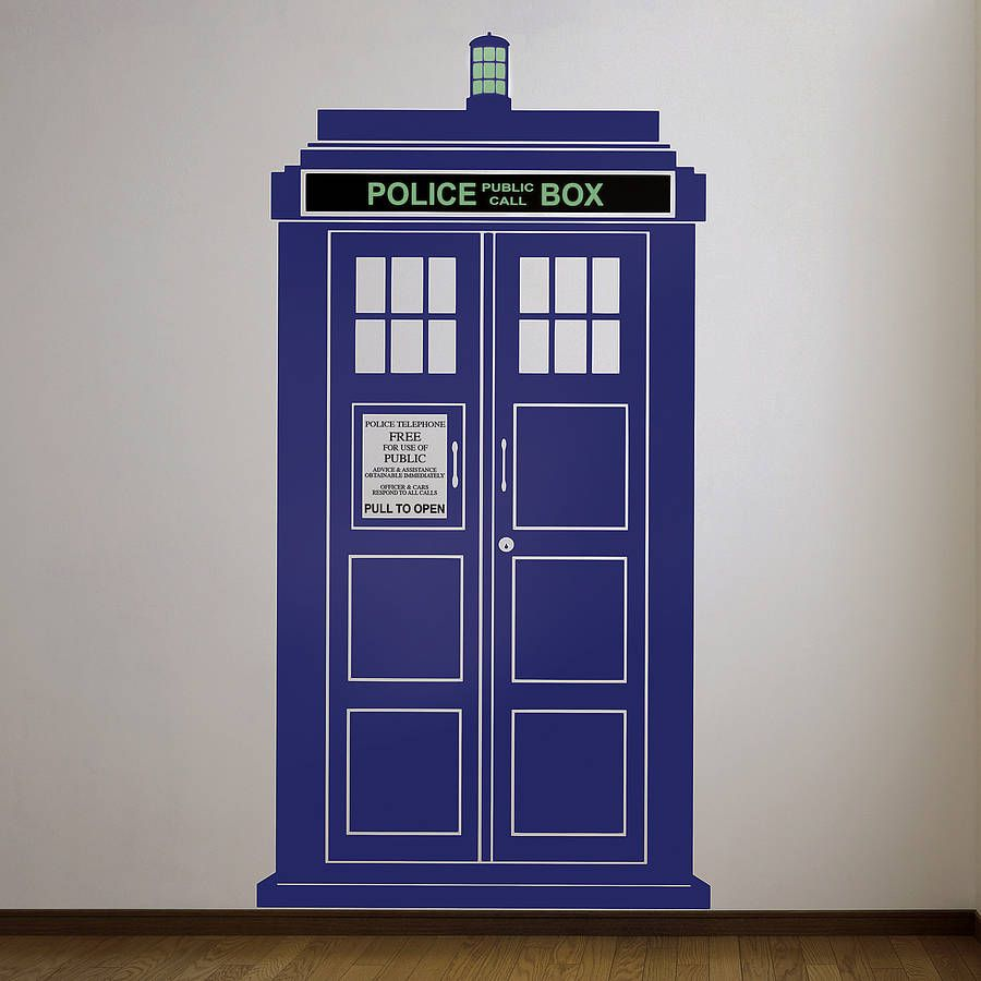 Beau British Policebox Wall Sticker