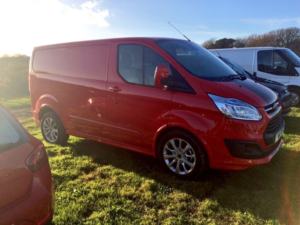 Decision Made My New Ford Transit Custom Sport In Race Red