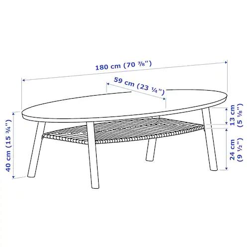 Ikea Tavoli Rotondi In Legno.Stockholm Tavolino Impiallacciatura Di Noce 180x59 Cm Tavolino