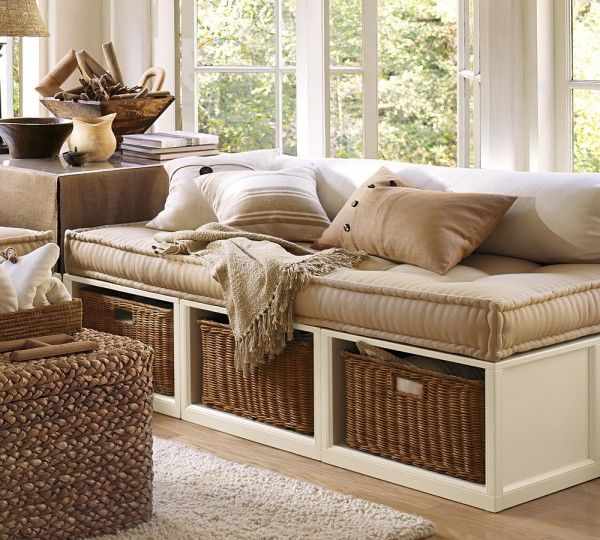 furniture trendy daybed living room furniture using wicker ottoman ...