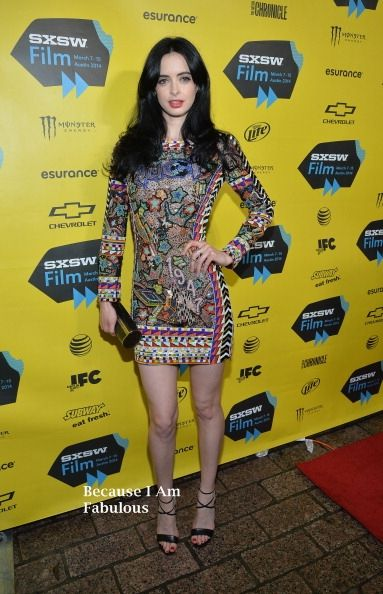 Fabulously Spotted: Krysten Ritter Wearing Emilio Pucci - 'Veronica Mars' Premiere 2014 SXSW Music, Film + Interactive Festival - http://www.becauseiamfabulous.com/2014/03/krysten-ritter-wearing-emilio-pucci-veronica-mars-premiere-2014-sxsw-music-film-interactive-festival/