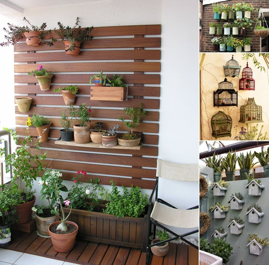 10 awesome balcony wall decor ideas for your home http for Patio garden accessories