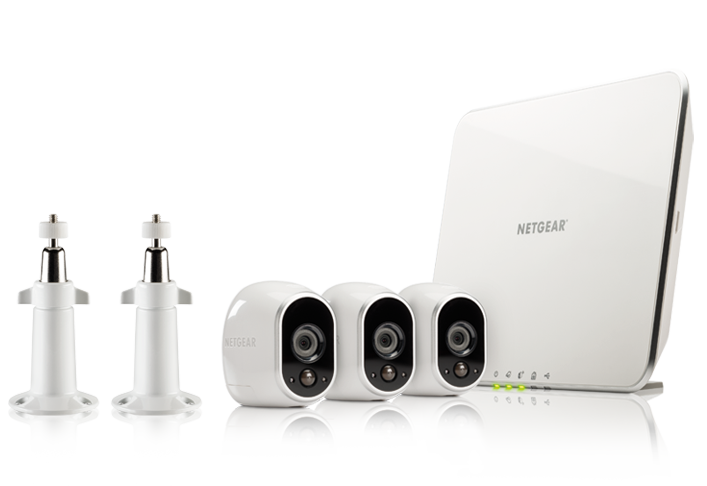 Arlo WireFree Security System with 3 HD Cameras (VMS3330C