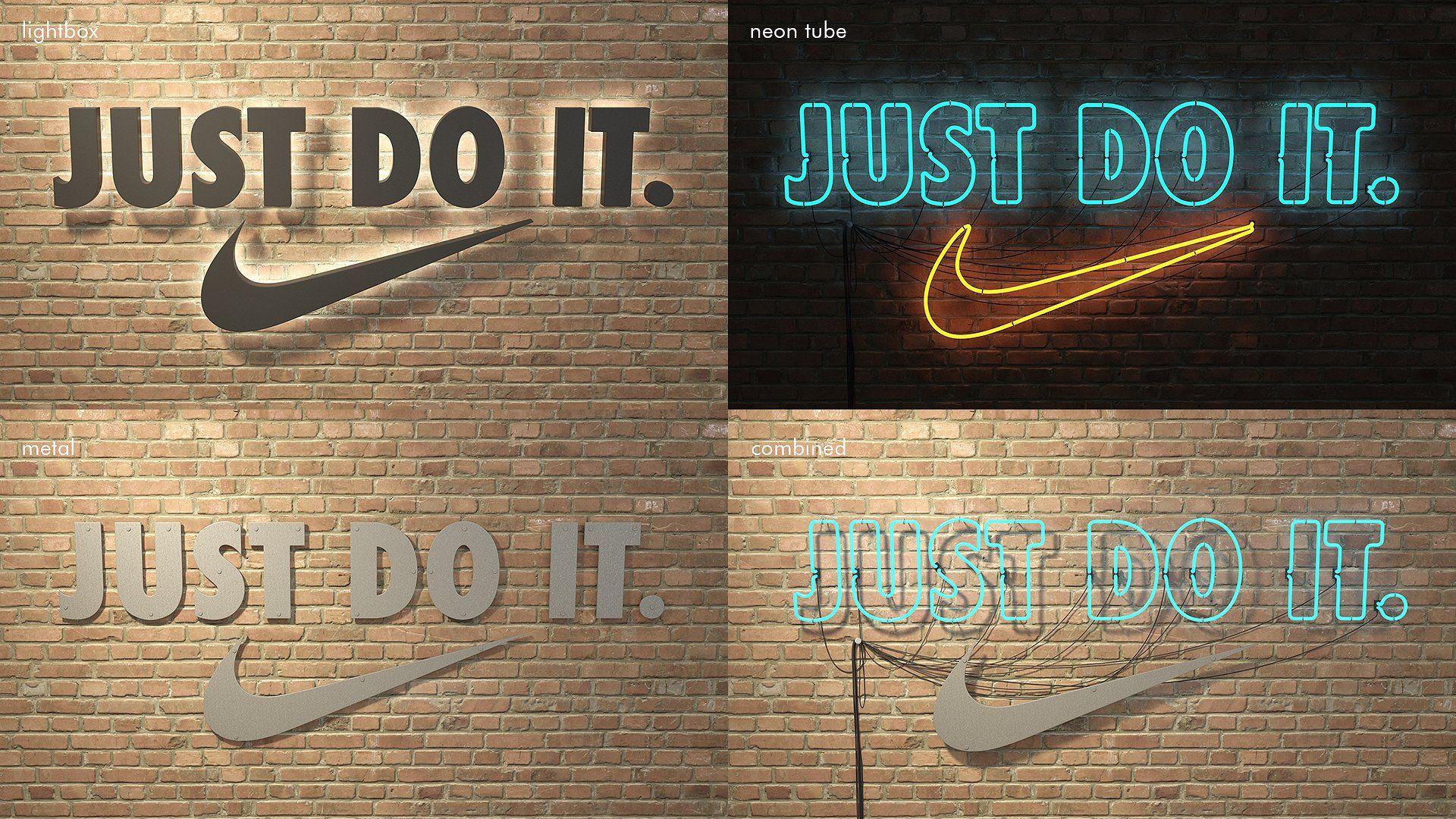 logo sign Nike Just do it 3d meshversionsoriginal