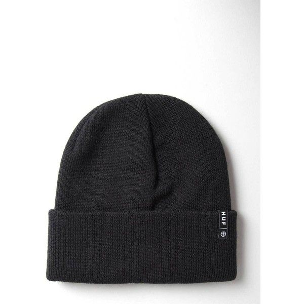 18b5ae3e5c4 Huf Service Beanie Hat - Black (120 BRL) ❤ liked on Polyvore featuring  accessories