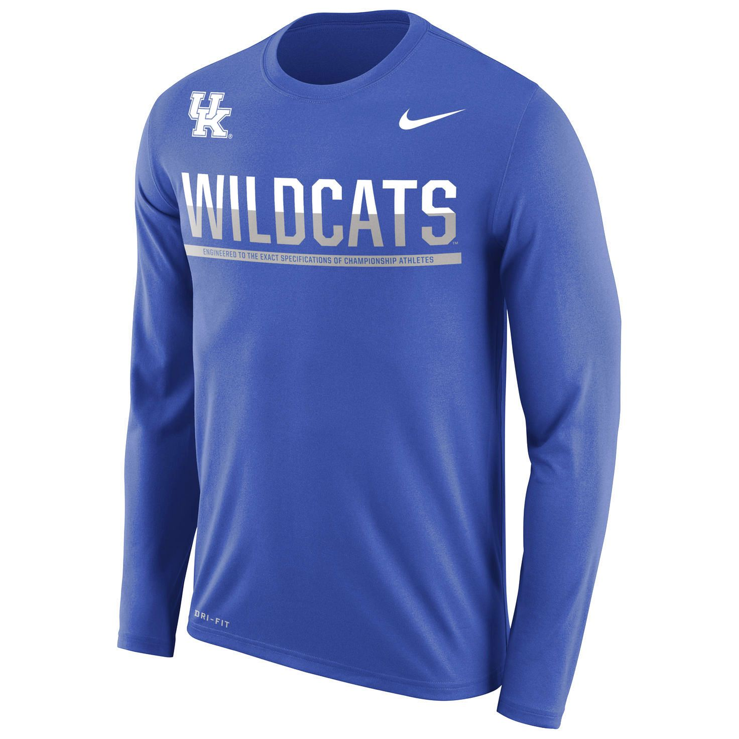 Kentucky Wildcats Nike 2016 Staff Sideline Legend Dri Fit Long Sleeve T Shirt Royal 35 99 Lsu Football Shirt Nike Men Long Sleeve Tshirt Men