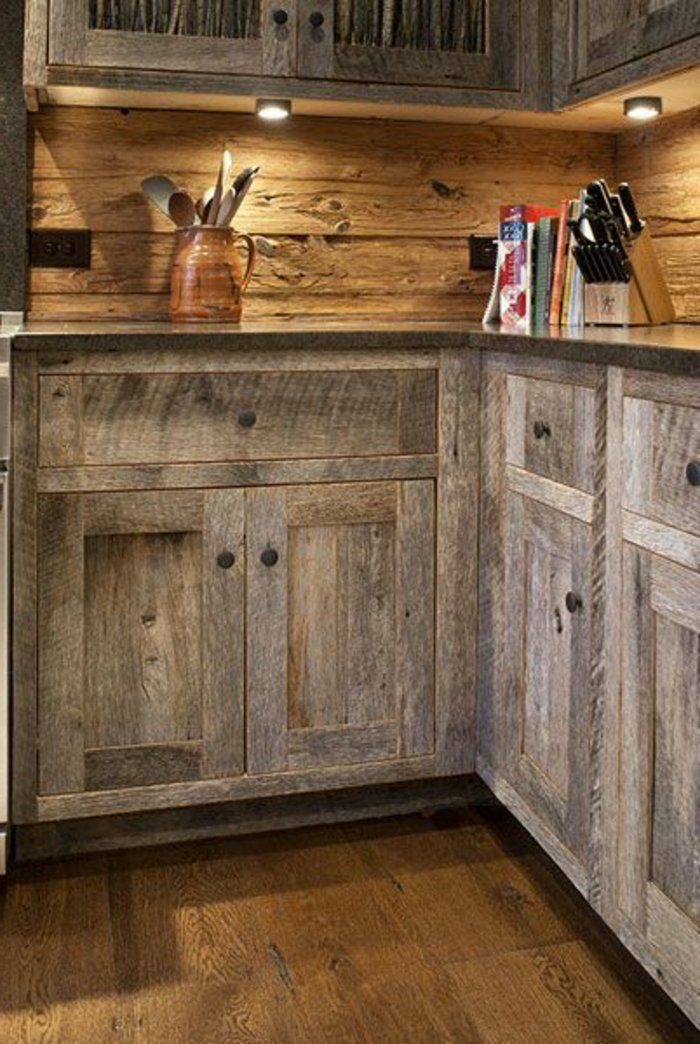 meuble cuisine bois brut, meubles de cuisine en bois massif, design