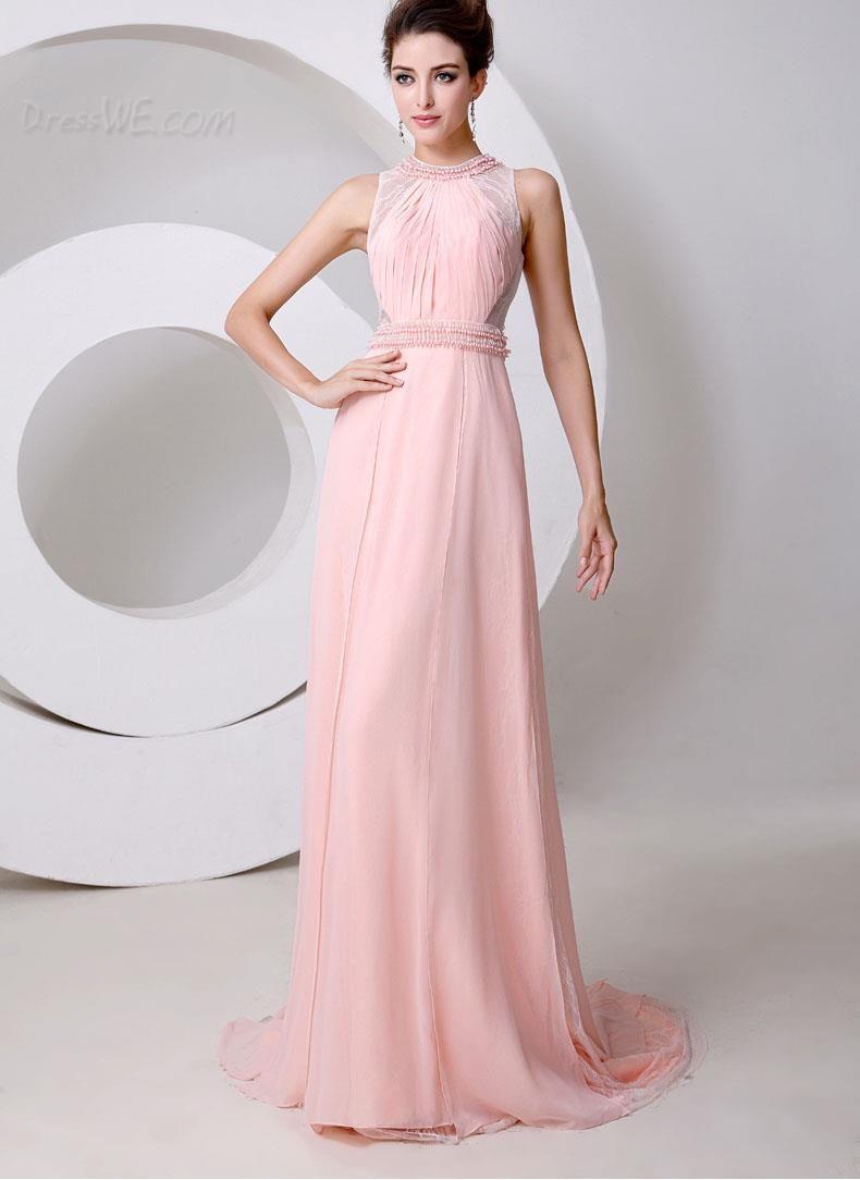 $122.99 Dresswe.com SUPPLIES Elegant Jewel Neck Lace Pearls A-Line ...
