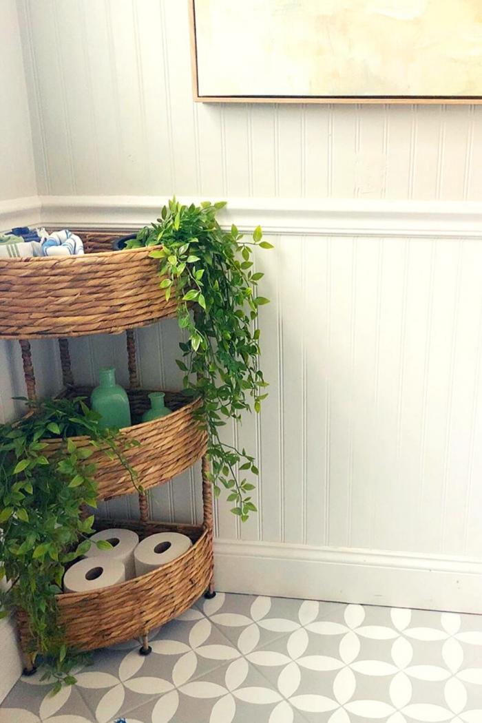 Planting Bathroom Storage Ideas