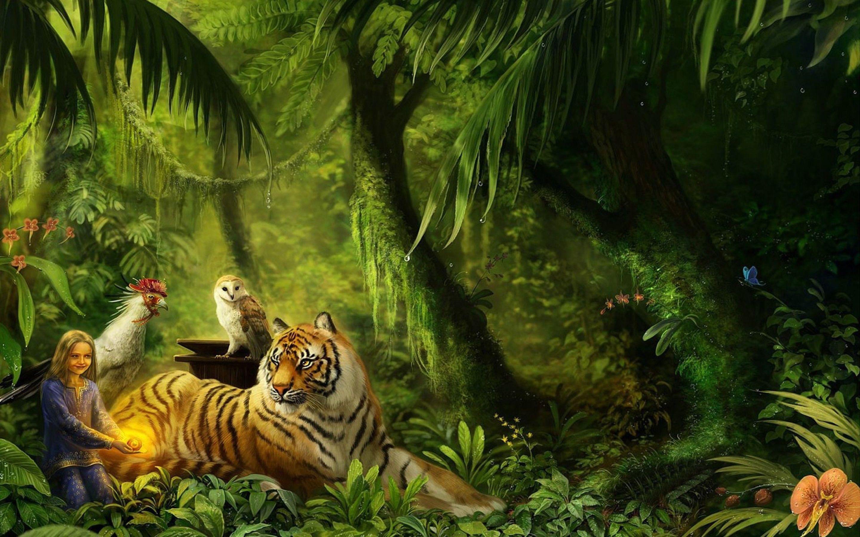 tiger-in-the-jungle-art-wallpaper-widescreen-1920x1200.jpg (2880 ...