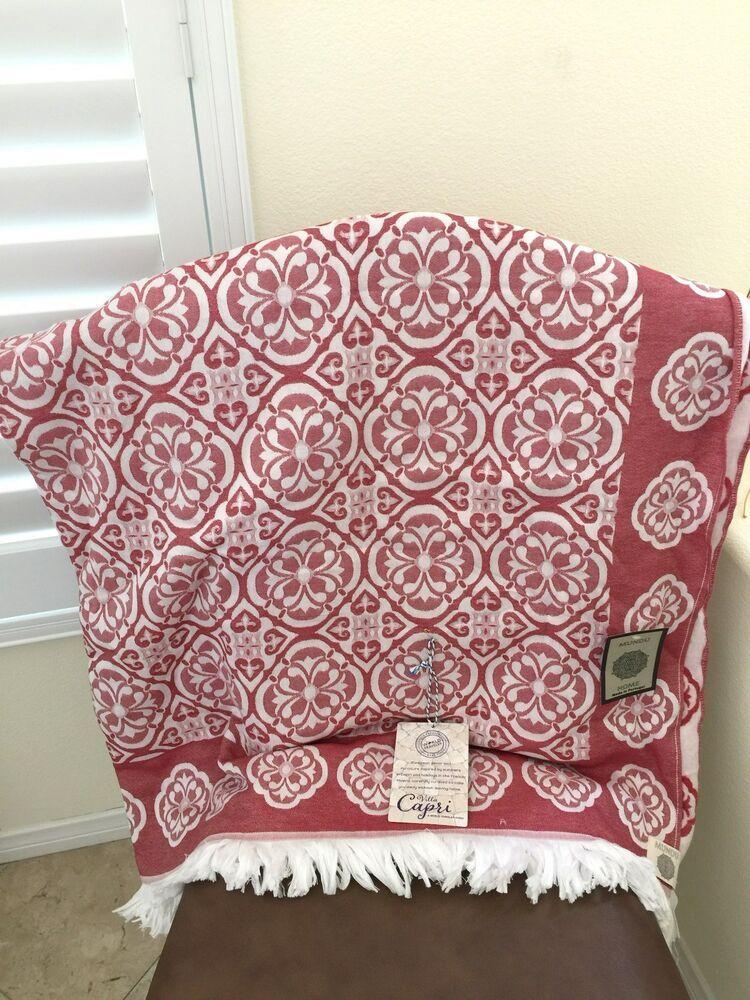 New Mundu Luxury Made In Portugal Throw Cotton Capri Blanket Shawl Large60 X72 Mundu Mediterranean Sofa Throw Blanket Geometric Blanket Blanket Shawl