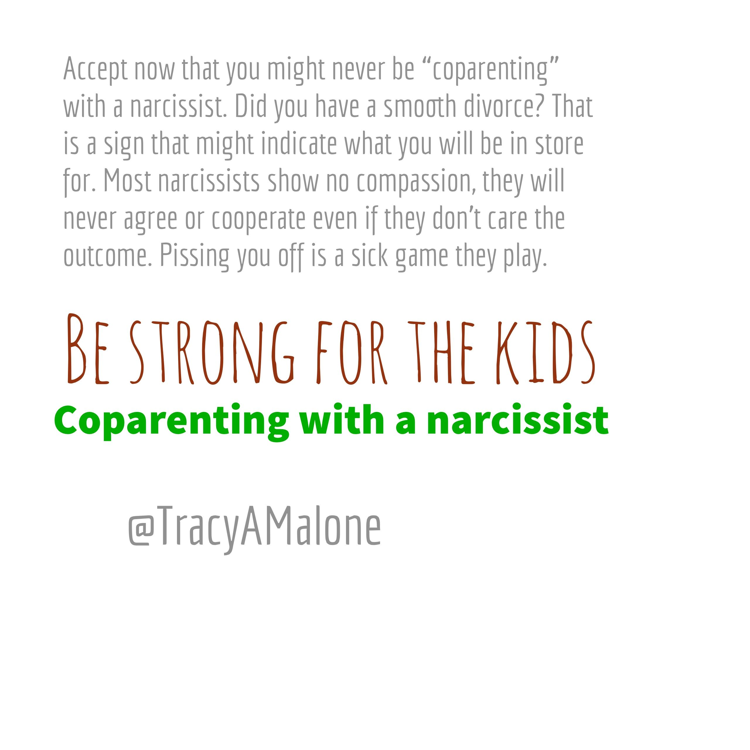 Be Strong for the Kids - Co-parenting with a narcissist
